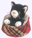 4 in. Cat-in-Bed Finger Puppet