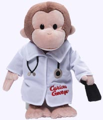 12 in. Curious George Doctor