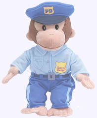 12 in. Curious George Policeman