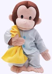 12 in. Curious George Plush in Pajamas