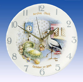Heron Nursery Stork Birth Clock