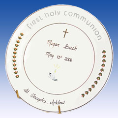 Heron First Communion Plate