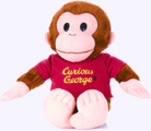 8 in. Curious George Plush in red shirt