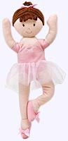 9 in. Brunette Ballerina Finger Puppet