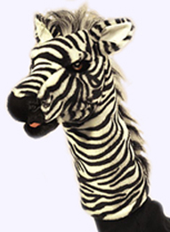 13 in. Zebra Stage Puppet