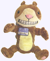 12 in. Scaredy Squirrel Puppet