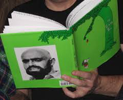 Photo of Shel Silverstein on book.