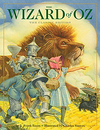 The Wizard of Oz Hardcover Picture Book Illustrated by Charles Santore